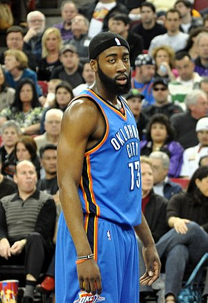English: James Harden, a player for the Oklaho...