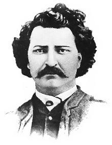 """""""A bust portrait of Métis leader Louis Riel c1870 after a carte de visite in 1884."""""""