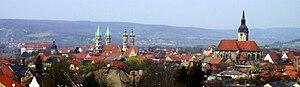 Deutsch: Panorama der Stadt Naumburg (Saale)