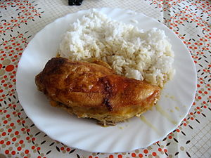 Roast chicken with rice