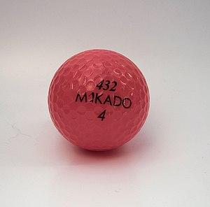 red golf ball