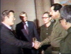 "Original caption:""Shaking Hands: Iraqi Pr..."