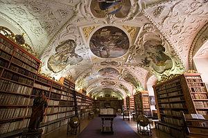Strahovský klášter (Strahov Monastery) in Prag...