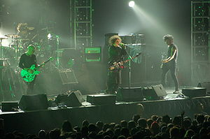 The Cure performing in Singapore.