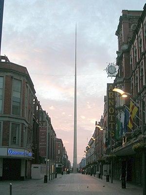 The Spire of Dublin symbolises the modernisati...