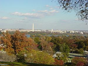 Washington DC from Arlington House, atop Arlin...