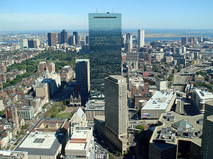 English: John Hancock Tower in Boston, Massach...