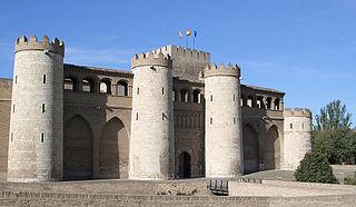 Vista del Palacio de La Aljaferia en Zaragoza.