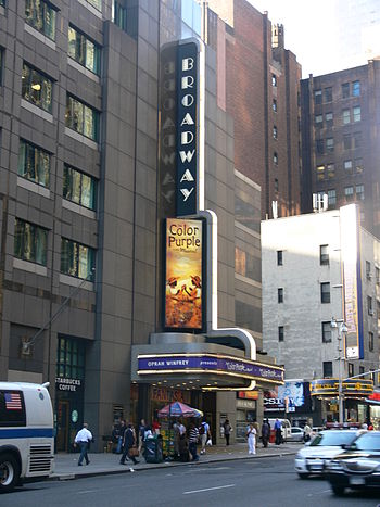 The Broadway Theatre, showing the musical The ...