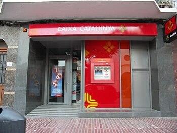 English: branch of bank Caixa Catalunya at Car...