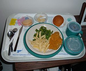 Low sodium dinner served at a hospital in Daly...