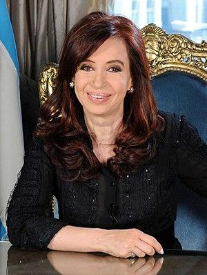 Español: La presidenta Cristina Fernández en s...