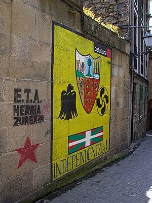 Batasuna mural painting in Guipuscoa (2003), f...