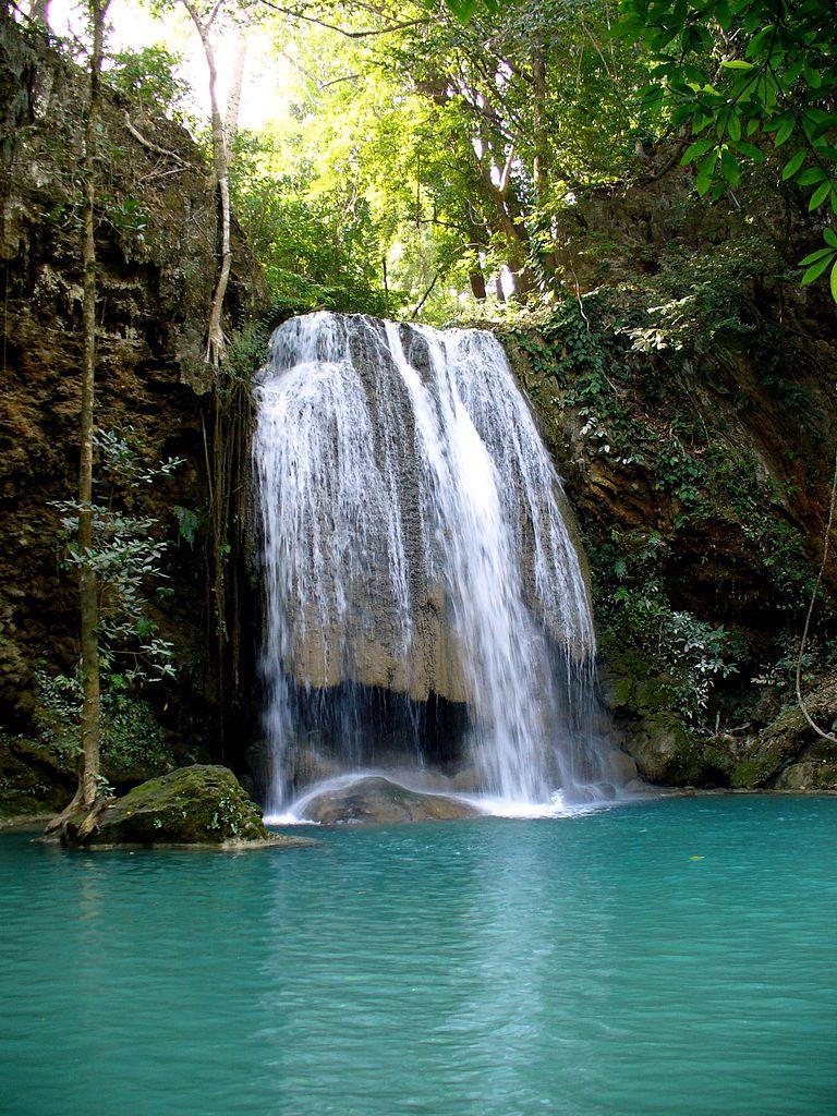 Falls Wallpaper Waterfall File Erawan National Park Kanchanaburi Thailand