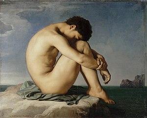 Flandrin, Hippolyte (1805-1864) - Jeune homme ...