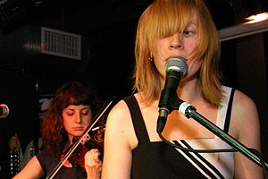 Kat Burns (right) and Mika Posen of the Forest...