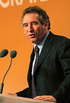 François Bayrou speaking during at the beginni...