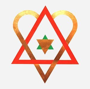The symbol of The Golden Heart. The red triang...
