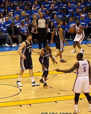 English: Memphis Grizzlies vs. Oklahoma City T...