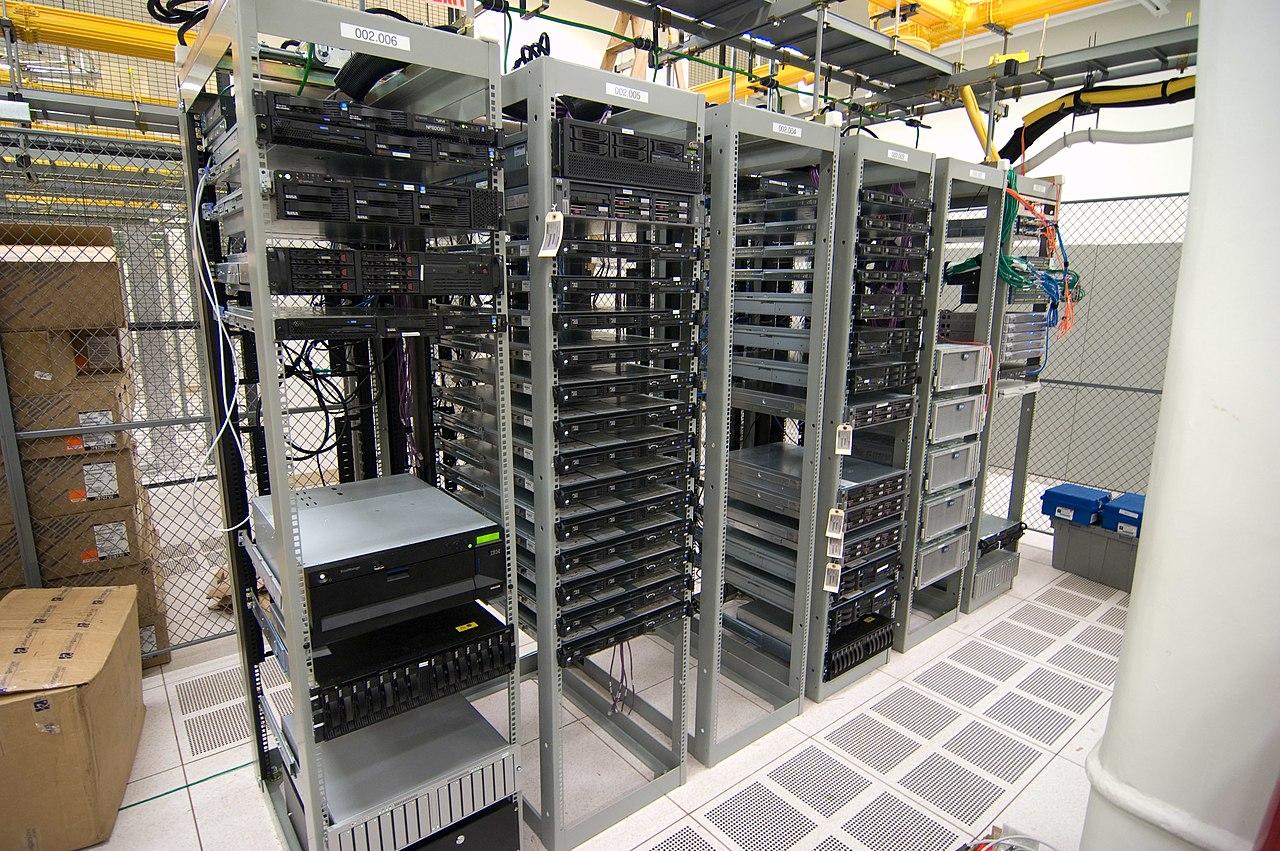 FileHalf filled server racksjpg  Wikimedia Commons