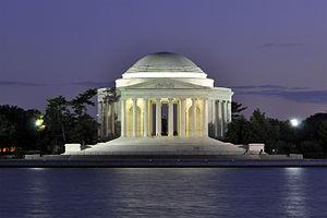 English: at dusk in Washington, D.C., USA.