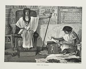 English: Depiction of Joseph reading to the Ph...