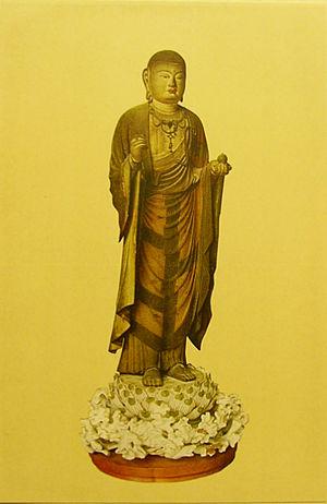 ZIZO-BOSATU(KSITIGARBHA Bodhisatva) wood colou...