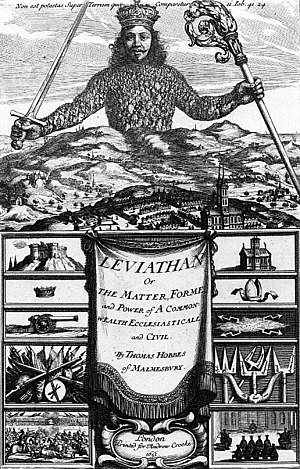 The frontispiece of the book Leviathan by Thom...