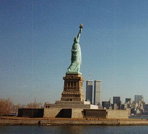 Statue of Liberty and WTC