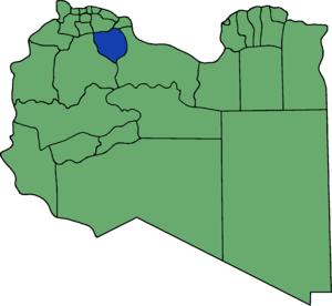 Die neuen Gemeinden (Munizipien) in Libyen. Ba...
