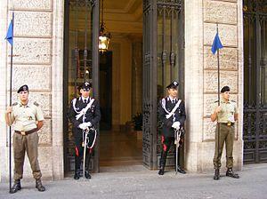 English: Palazzo Madama in Rome, seat of the I...