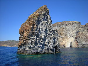 Pietra Lunga, SW of Lipari, Aeolian Islands, S...