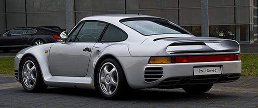 Porsche 959 – Heckansicht (2), 21. März 2013, Düsseldorf