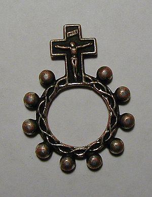 Single-decade ring rosary