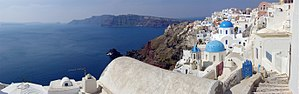 Partial panorama of Santorini and Thera caldera