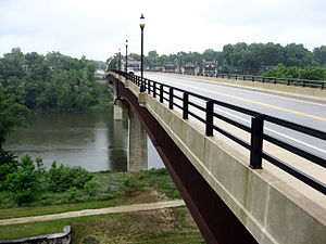 English: Shepherdstown Bridge over the Potomac...