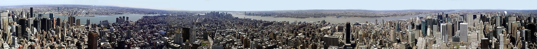 Panorama de 360º desde el edificio Empire State