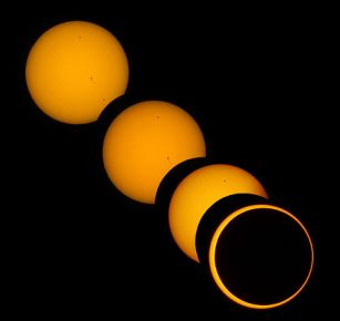 Eclisse ibrida di Sole del 3 Novembre 2013