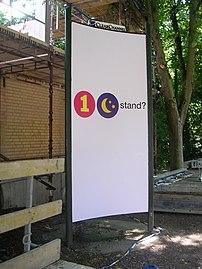 Billboard in Lund, Sweden, saying