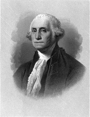 English: Portrait engraving of U.S. President ...