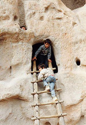 Bandelier-Children and Ladder