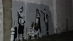 Banksy people Clerkenwell