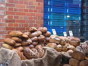 Bread on sale in Borough Market, London.