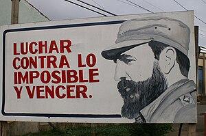 """Español: """"Luchar contra lo imposible y ve..."""