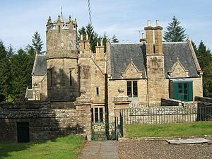 English: Corehouse in Lanarkshire, Scotland. T...