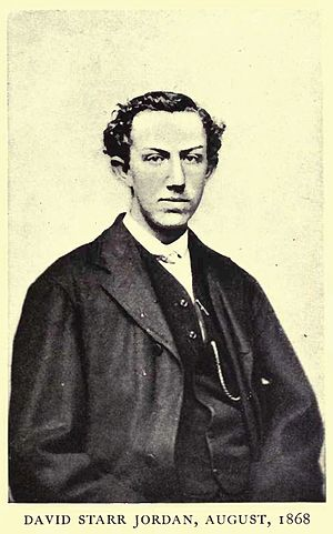 Portrait of David Starr Jordan, 1868 from his ...