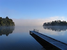 Peace and tranquility - Lake Mapourika, New Zealand.