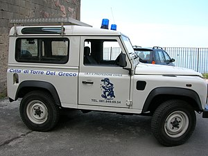 macchina utilizzata dalla Protezione Civile