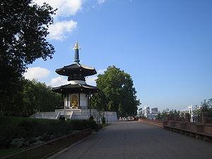 Peace Pagoda, Battersea Park, London, UK