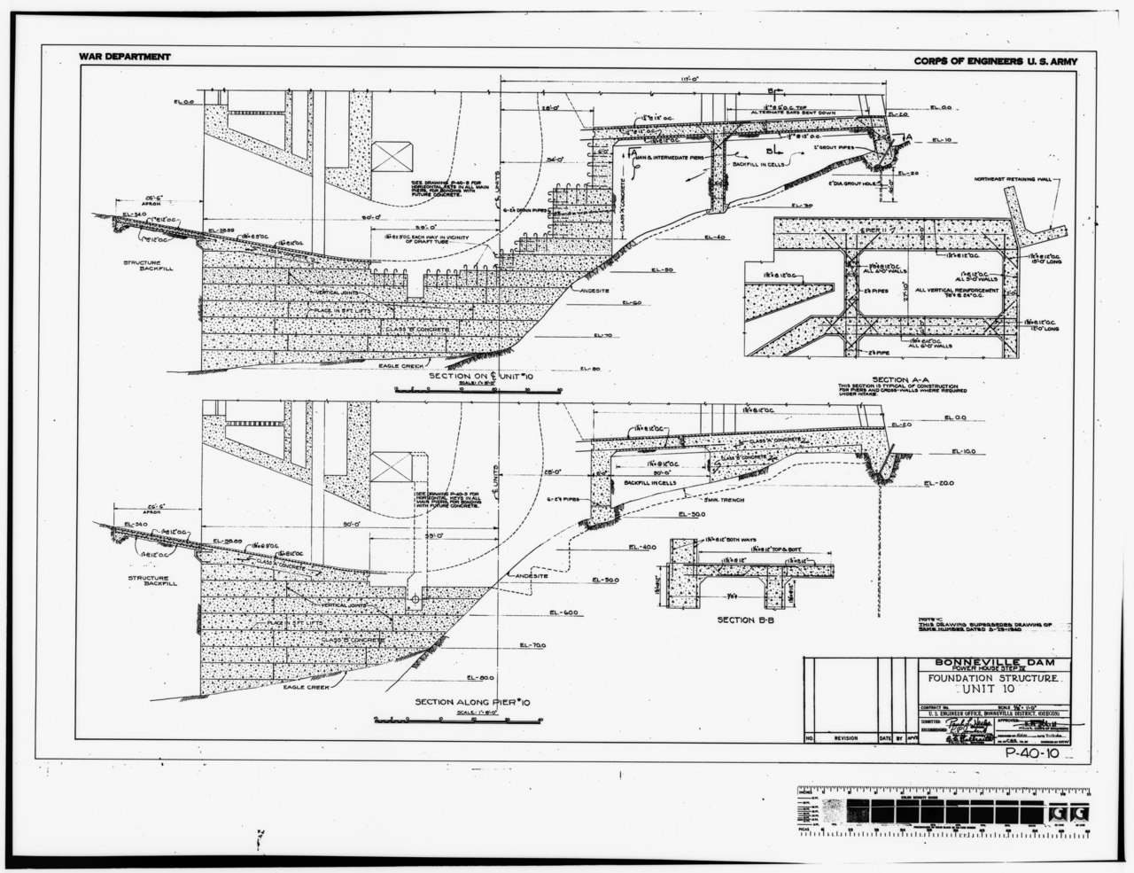 File Photocopy Of Original Construction Drawing Dated 12 July Original Print In The